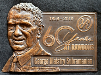 George - 60 years at Rawdons - Relief
