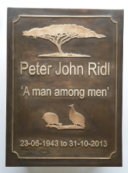 Man amongst Men Plaque