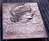 Minerva relief plaque