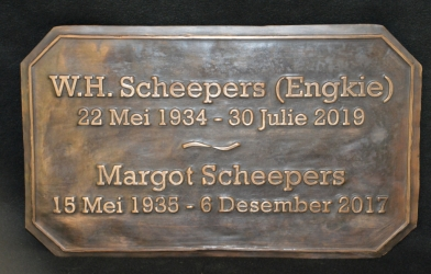 Scheepers Plaque
