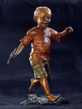 boy running with stick