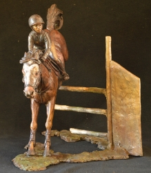 Show pony and Rider Jumping down  - SOLD - Edition 1
