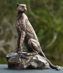 Cheetah Sitting  - Maquette