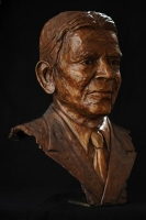 Bronze portrait bust of the late Mr Reddy