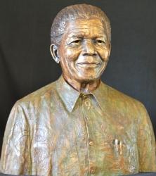 Portrait Bust of Nelson Mandela