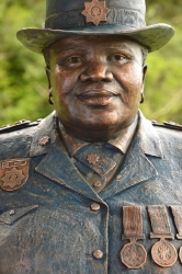 Portrait bust of the late Ms. Motsebe Francinah Tankie
