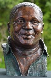 Portrait bust of the late Vusimuzi Theophilus Dube